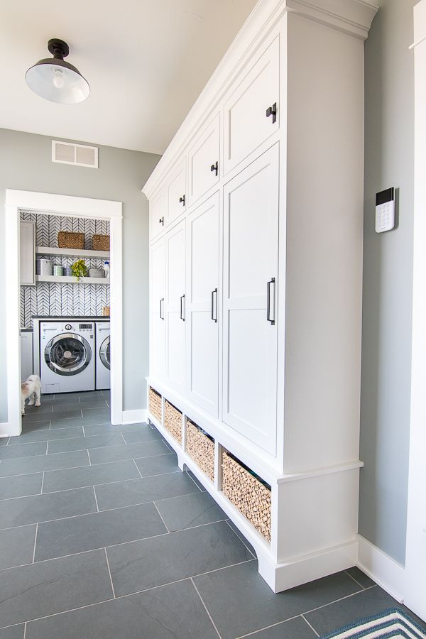 Grey And Blue Mudroom Laundry Room Flooring Mudroom Flooring Mudroom Laundry Room