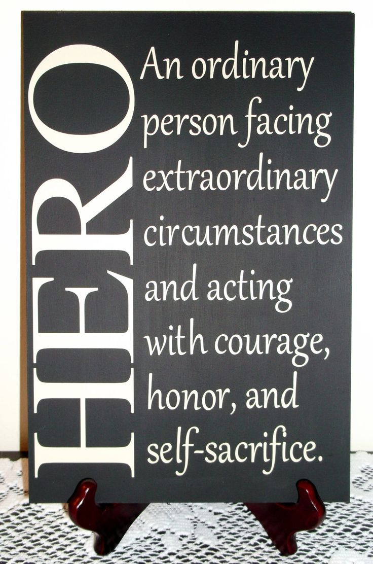 Hero Sign $20.00, via Etsy. Seriously describes about every Military-Brat I know. - MilitaryAvenue.com
