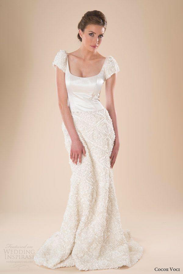 cocoe voci bridal spring 2014 tallulah puff sleeve wedding dress - medyo filipina