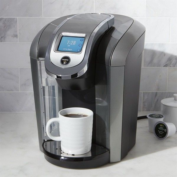 Crate & Barrel Keurig 2.0 K575 Coffee Maker System (665 ILS) ❤ liked on Polyvore featuring home, kitchen & dining, small appliances, single serve brewing system, single serve coffee brewer, crate and barrel, single serve coffee machine and single serve brewers
