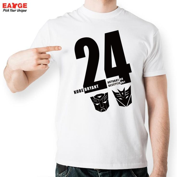 Kobe Bryant 24 T Shirt Design Autobot Or Decepticons Fashion Creative T-shirt Cool Casual Novelty Funny Printed Unisex Tee