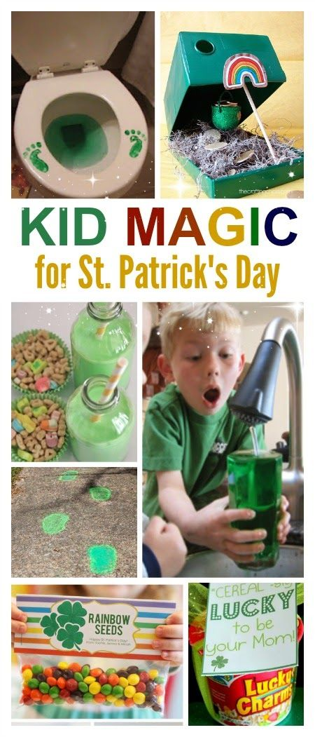 10 Super fun ways to make St. Patrick's Day magical for kids- I love these ideas!