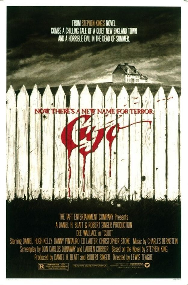 1983 Horror Film based on the novel by Stephen King starring Dee Wallace, Danny Pintauro, and Daniel Hugh Kelly