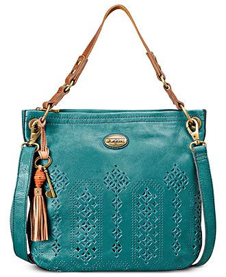Fossil Handbag, Campbell Leather Hobo - Fossil - Handbags & Accessories - Macy's