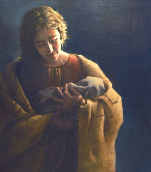 30 best women of the bible images on pinterest religious art ruth 416 then naomi took the child laid him in her lap fandeluxe Gallery