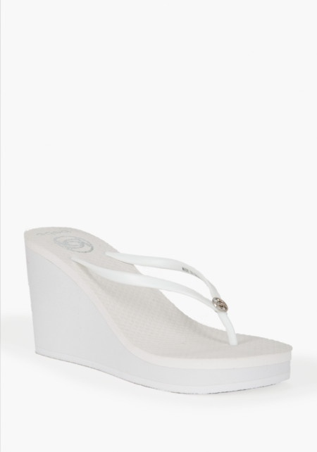 Hi Wedge Logo Flip Flop White | More here: http://mylusciouslife.com/photo-galleries/a-colourful-life-colours-patterns-and-textiles/