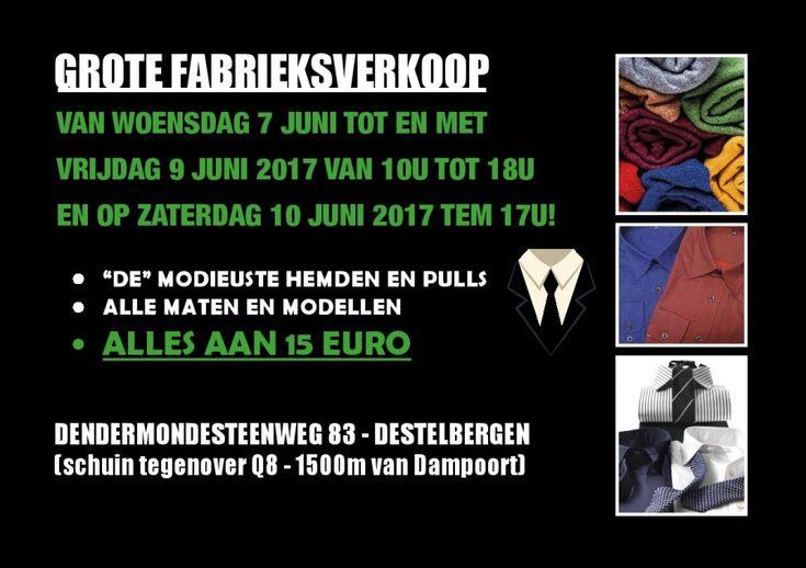 GROTE FABRIEKSVERKOOP - 7 TEM 10 JUNI - DESTELBERGEN -- DESTELBERGEN -- 07/06-10/06