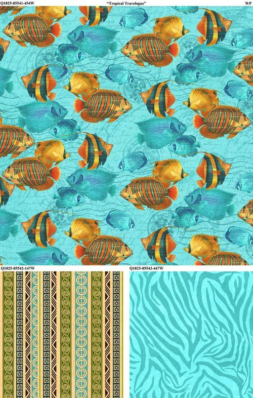 New Graphic 45 Tropical Travelogue Fabric from Wilmington Prints. #graphic45 #fabric