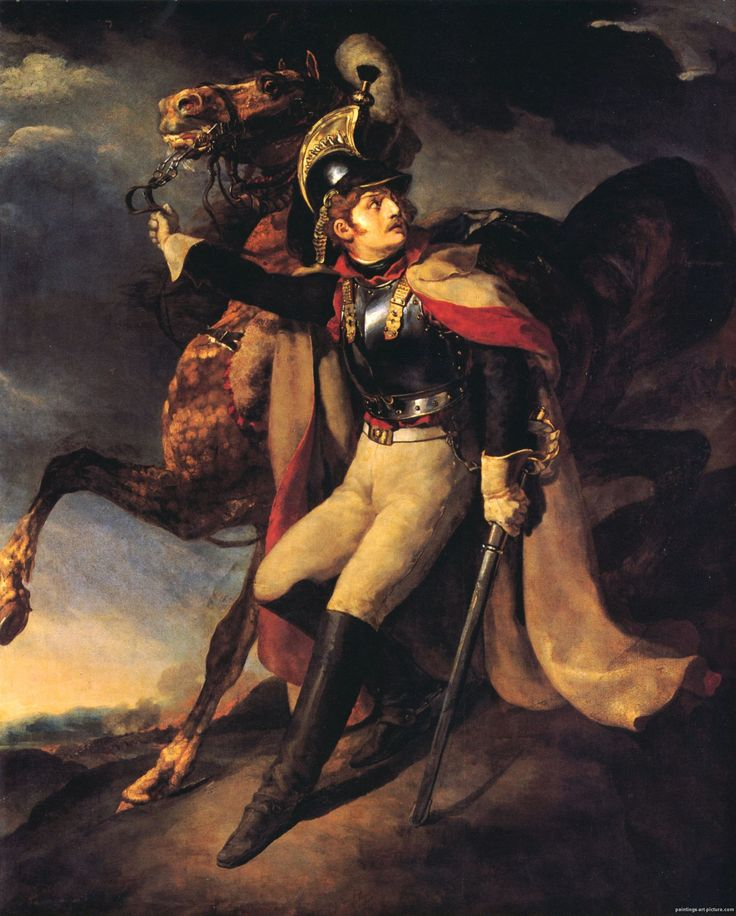 Wounded Cuirassier by Theodore Gericault (French 1791-1824)