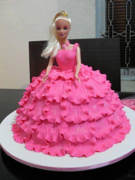 Bolo Boneca Barbie passo a passo