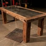 Recycle barn wood with an extra glass top