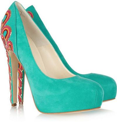 2. Brian Atwood   Claudia Embroidered Suede Pumps    Price: $2,115.00 at net-a-porter.com  Start saving your pennies, as these bad boys will be setting you back more than the usual Shoe. These …