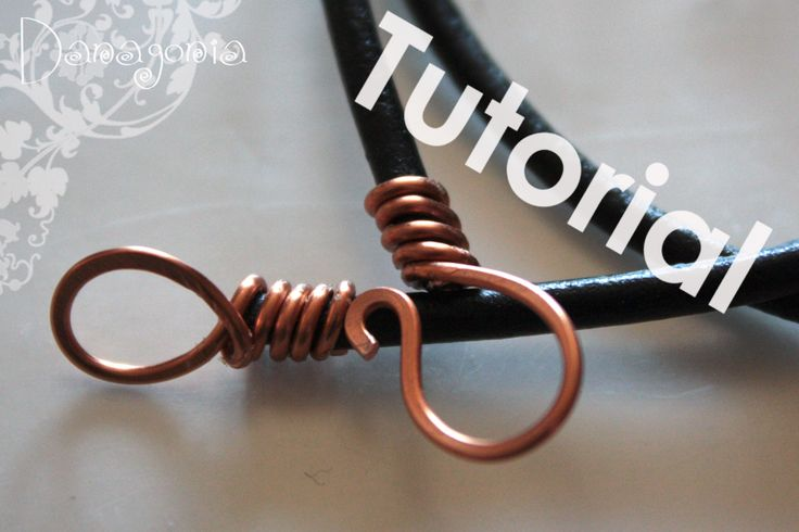 Download free tutorial on how to make a leather cord clasp | See more about Leather Cord, Cords and Leather.