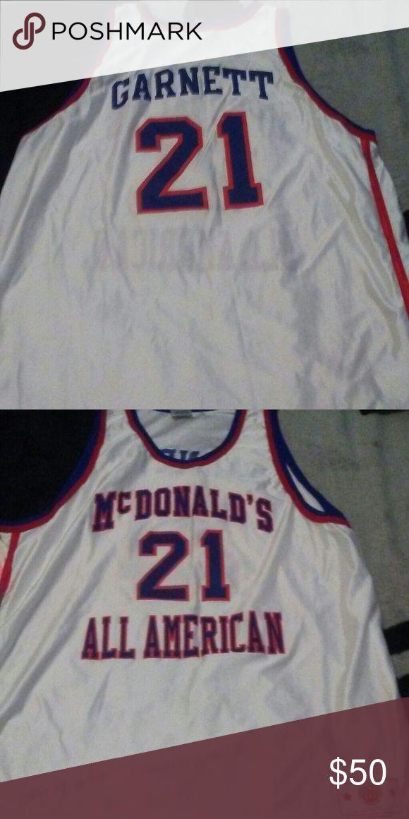 Kevin Garnett Jersey sz XXL Authentic Mcdonalds Kevin Garnett Jersey 10/10 condition without tag Mcdonalds Shirts Tank Tops
