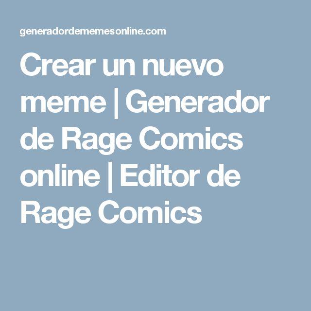 Crear un nuevo meme | Generador de Rage Comics online | Editor de Rage Comics