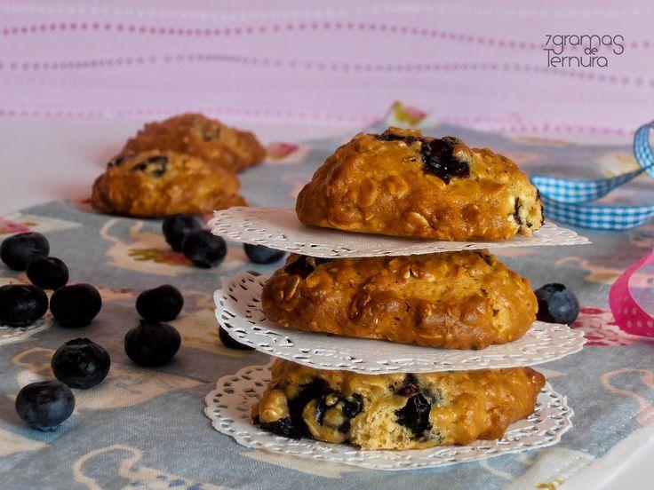 7gramas de ternura - Cookies de mirtilo e aveia