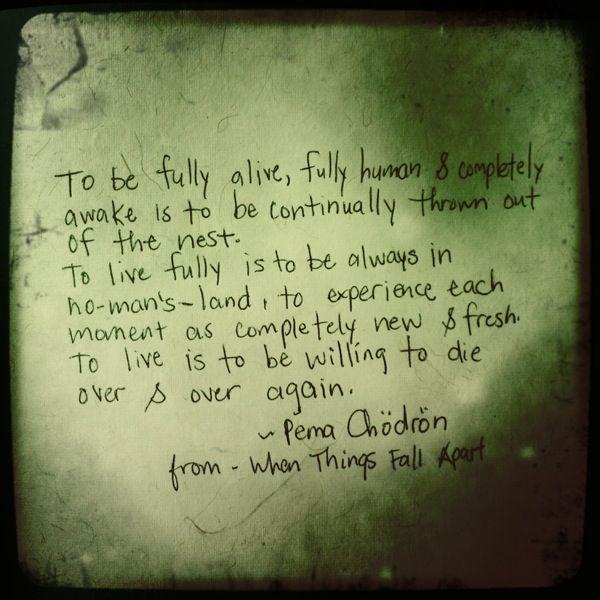 Things Fall Apart Author: Pema Chodron Quotes. QuotesGram