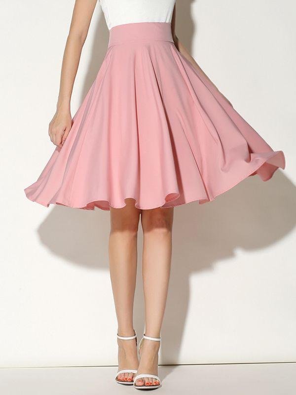 大人気爽やか可愛い無地ハイウエスト合わせやすいプリーツスカート - レディースファッション激安通販 20代·30代·40代ファッション