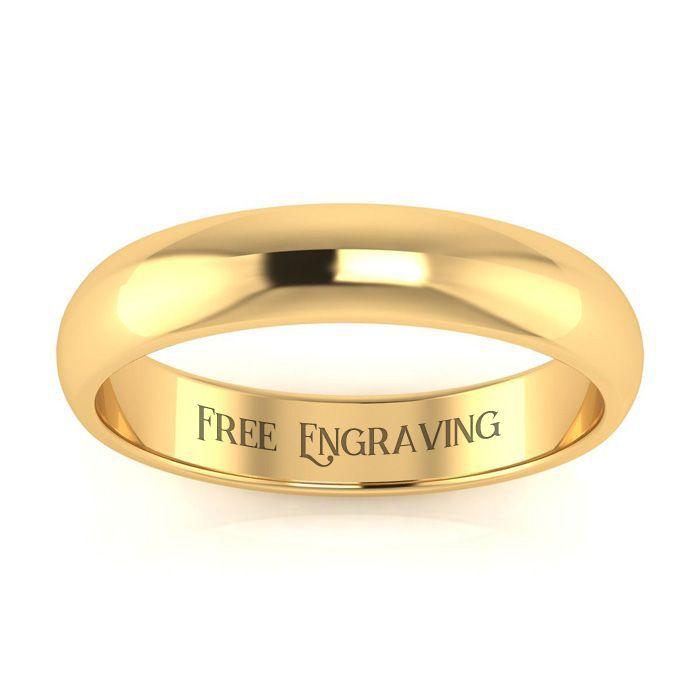 Wedding Bands 18k Yellow Gold 4mm Ladies And Mens Wedding Band Size 14 Free Engraving Superjeweler In 2021 Mens Wedding Bands Mens Gold Wedding Band Mens Wedding Band Sizes