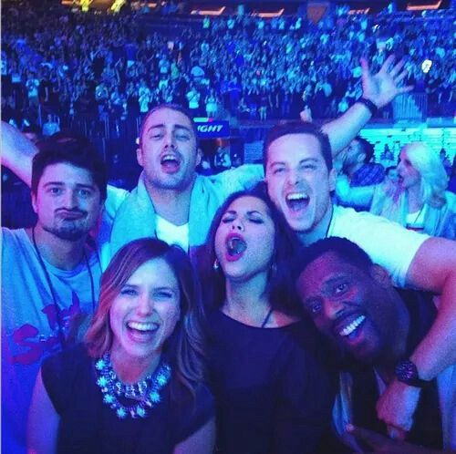 Chicago Fire and Chicago PD Cast at the Lady Gaga concert. BFF GOALS