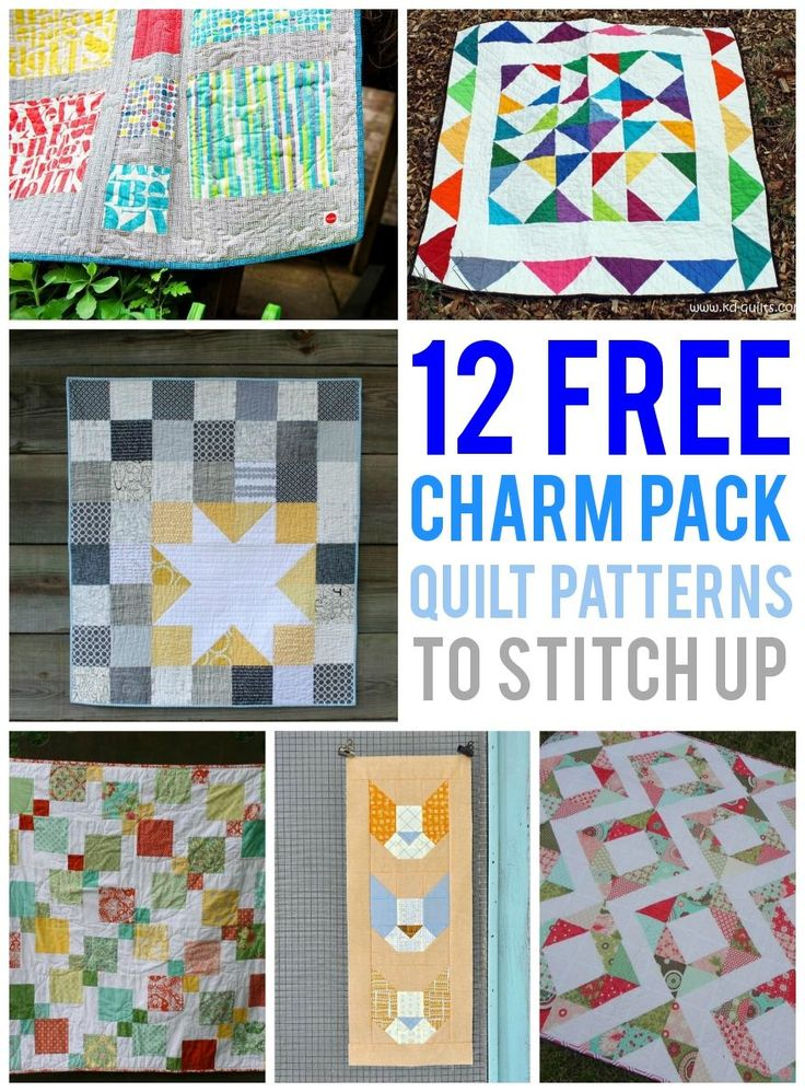 Do you have some charm packs laying around that have yet to be used? Why not stitch up one of these FREE charm pack quilt patterns from awesome indie designers?