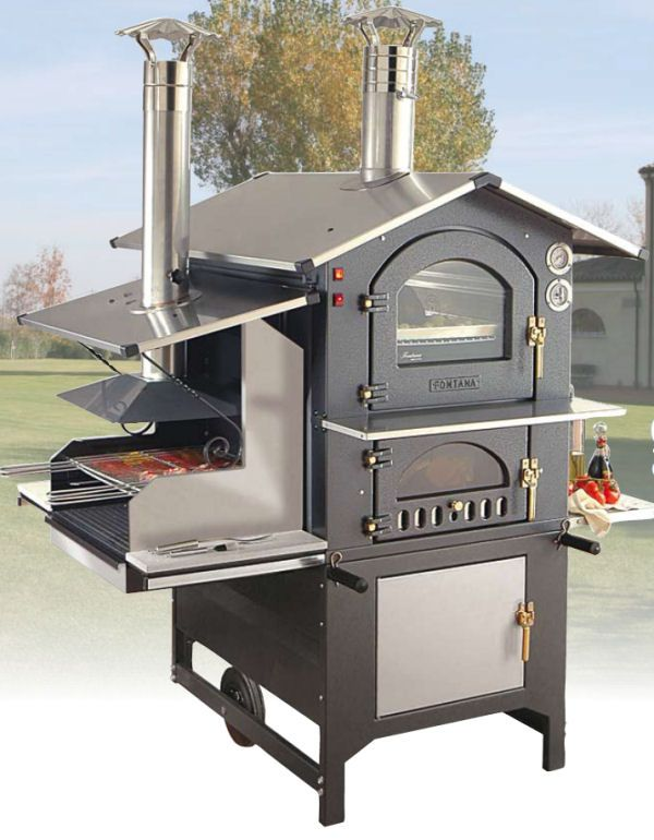 Wood-burning Oven Barbecue Combo, boy do I want this