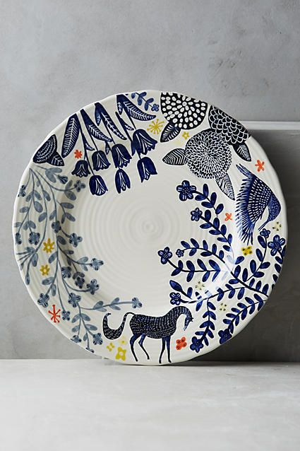 Anthropologie Saga Dinner Plate