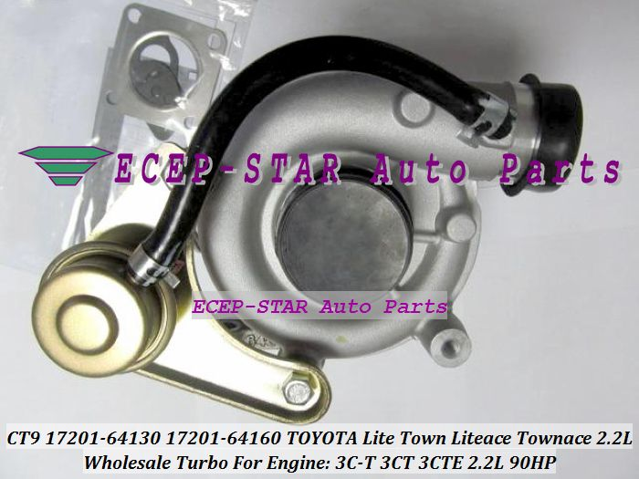Free Ship CT9 17201-64130 1720164130 Turbo Turbocharger For TOYOTA Liteace Lite Town Noah CR41 CR42 CR50 CR52 3C-T 3CT 3CTE 2.2L #Affiliate