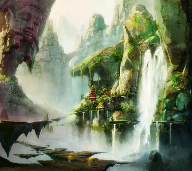 Best 3d Live Wallpaper Alien Waterfall Scenery Alien Landscapes I Could Live