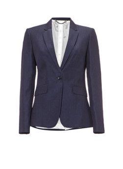 Jigsaw London slim fit blazer in wolblend met linnen