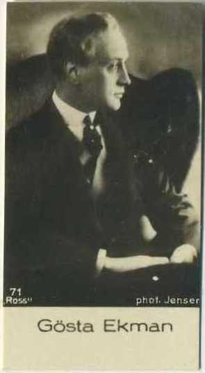 Gosta Ekman early 1930s De Beukelaer Film Stars Trading Card #71