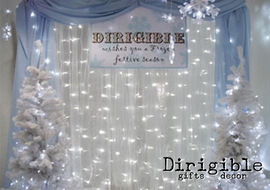 At Christmas we had a free Frozen themed photo backdrop for visitors to take their family pictures against.