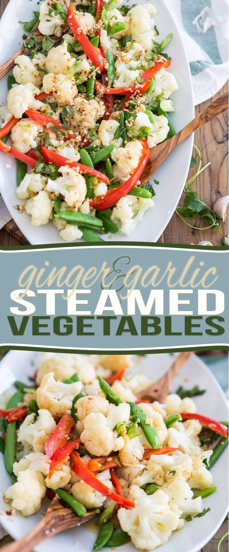 Ginger Garlic Steamed Vegetables   The Healthy Foodie
