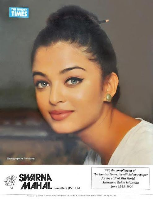Oh! look at that face, Aishwarya Rai Bachchan after winning Miss World peagent...