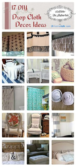 17 DIY {Drop Cloth} Decor Ideas | curated by 'Cobabe in Suburbia' blog!