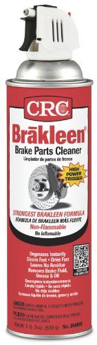 CRC 5089T Brakleen Brake Cleaner – 19 oz.   CRC 5089T Brakleen Brake Cleaner - 19 oz. CRC Brakleen Brake Parts Cleaner is formulated to quickly and safely remove grease, oil brake fluid and other contaminants from brake linings, pads, drums and calipers and all other mechanical components. It is perfect for cleaning machinery, motors and general mechanical equipment when a vapor degreaser is required. Eliminates clutch slippage and is ideal for removing grease and contaminates from C..