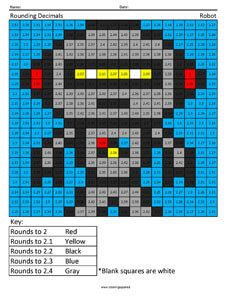 Robot- Rounding Decimals- 5th Grade Math Concepts