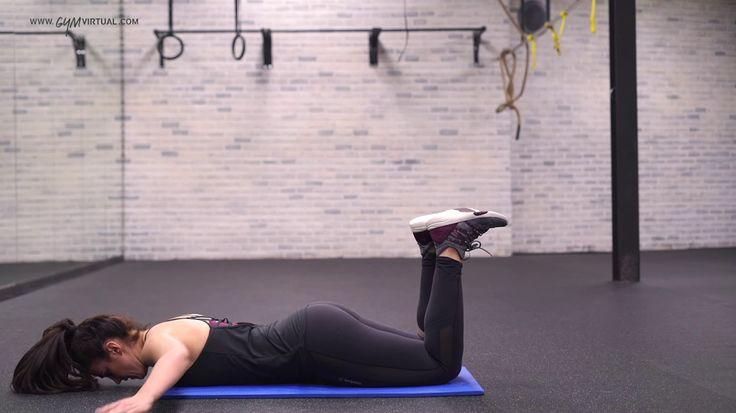 6. Flexiones + brazos en cruz x 10 rept.