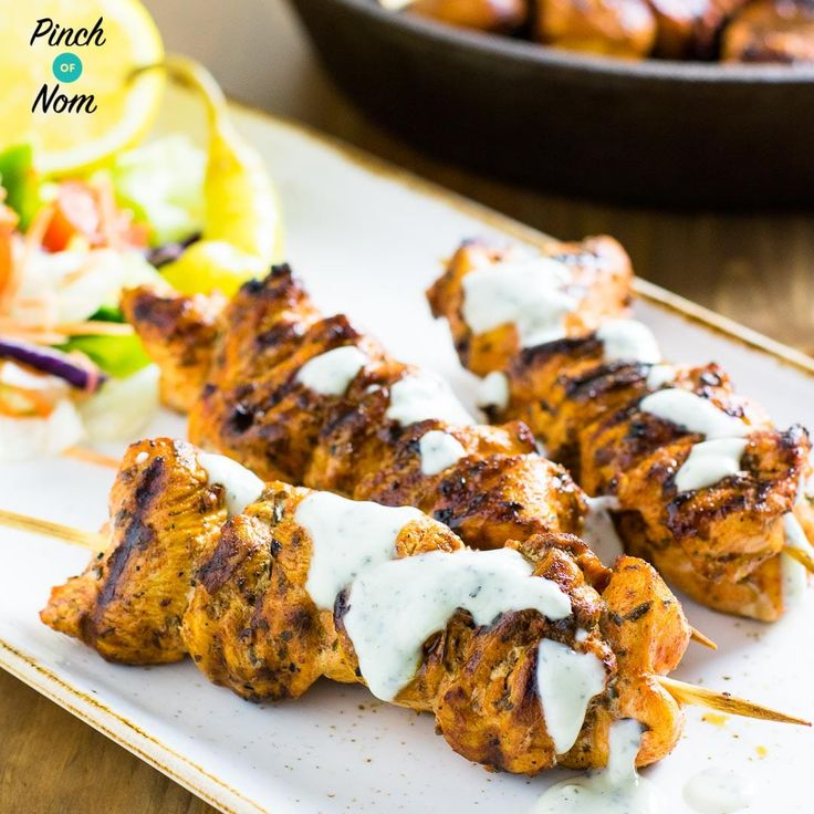 This Syn Free Chicken Souvlaki and Tzatziki is much nicer than a takeaway and it's Syn free. Perfect when following the Slimming World Extra Easy plan.