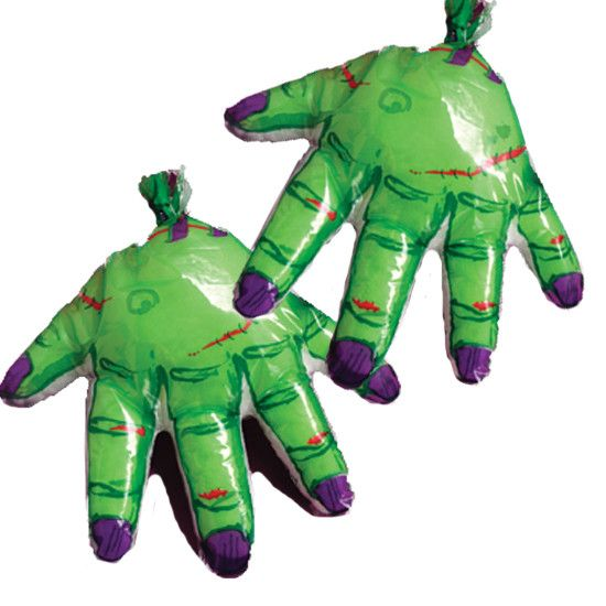 12 Halloween Scary Zombie Hand Party Favor Treat Bags