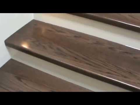 Instalación de madera en escalones de concreto - YouTube