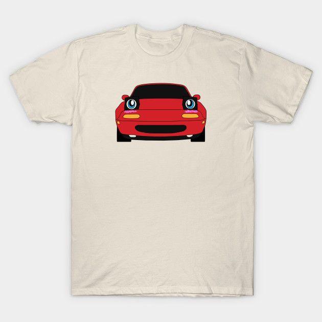 [Cars T-shirt] Mazda MX-5 / Miata NA Anime Kawaii cute face design