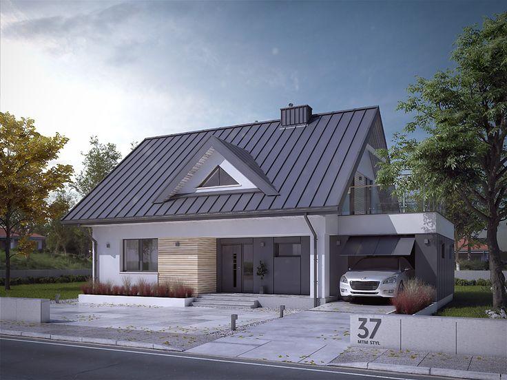 Projekt Indygo 3 (136,46 m2) ma nowe wizualizacje. Pełna prezentacja projektu znajduje się na stronie: https://www.domywstylu.pl/projekt-domu-indygo_3.php. #indygo3 #projekty #projekt #domywstylu #mtmstyl #projektygotowe #domy #dom #houses #home #housedesign #project #projektydomow