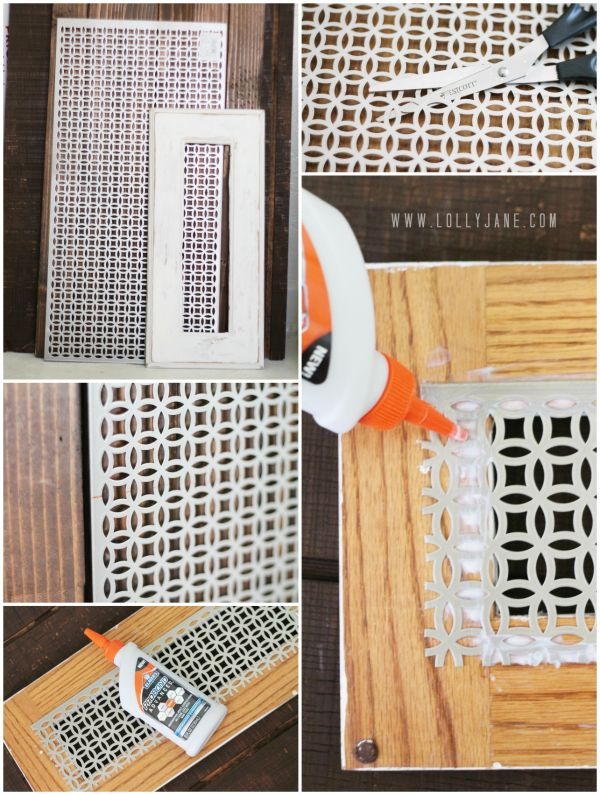 DIY Decorative Vent Cover tutorial, make these pretty covers to customize your space on the cheap!