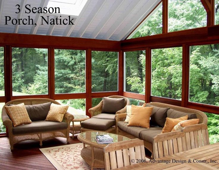 Enclosed back porch dream home porches pinterest for Enclosed back porch ideas