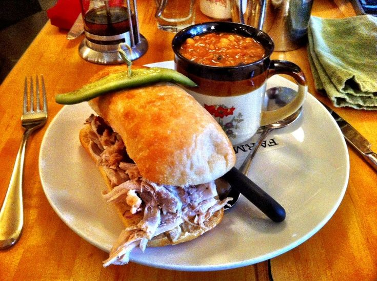 FARM Calgary Restaurant - Winters Farm turkey sandwich and cajun chicken chili....this soup sandwich combo is to die for!