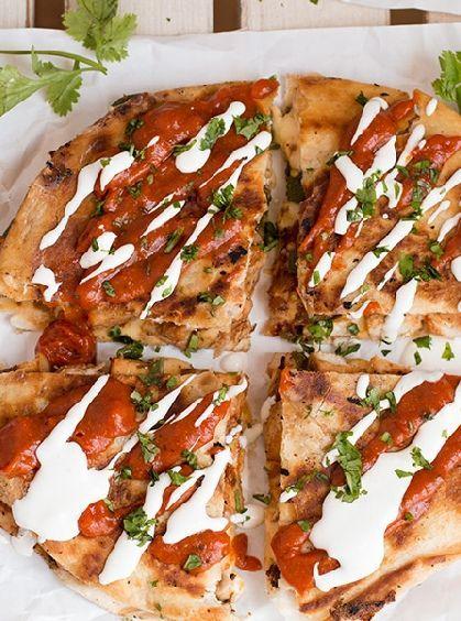 Low FODMAP and Gluten Free Recipe - Chicken quesadillas & salsa - http://www.ibssano.com/low_fodmap_recipe_chicken_quesadillas.html