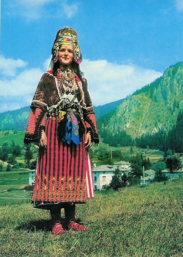 Bulgarian traditional Slavic costumes by region