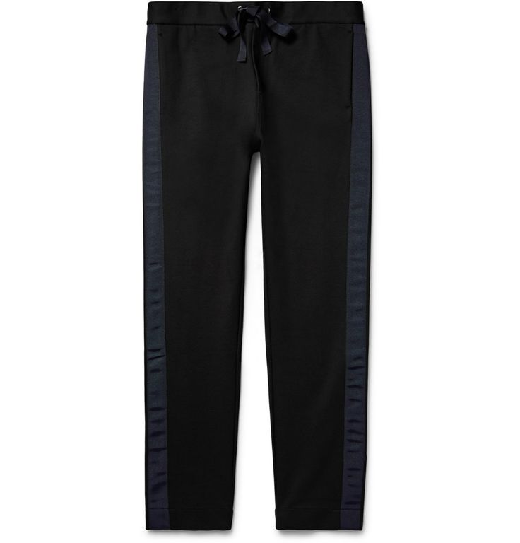 COS - Grosgrain-Trimmed Stretch-Jersey Trousers
