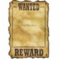 Western Wanted Sign $4.95 BE54330